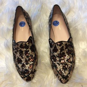 Kate spade Caty animal print sequence loafer 7 1/2